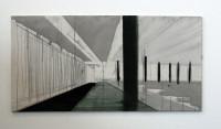 """""""Untitled #1"""" gemaakt eerste helft 2012 Gouache, Tempera, olie verf, inkt, grafietstift op canvas en MDF plaat. 600 euro"""