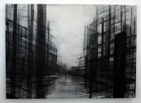 """""""Untitled #5"""" gemaakt eerst helft 2012 Gouache, Tempera, olie verf, inkt en grafietstift op canvas. 1200 euro"""