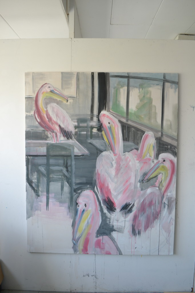 pelikanen in het klaslokaal